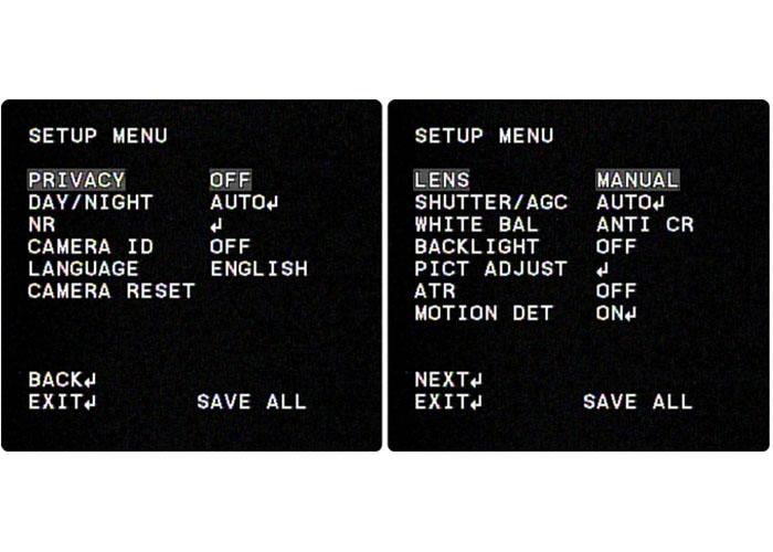 osd menu در دوربین مداربسته