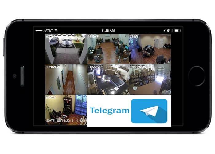انتقال تصویر دوربین مداربسته با تلگرام