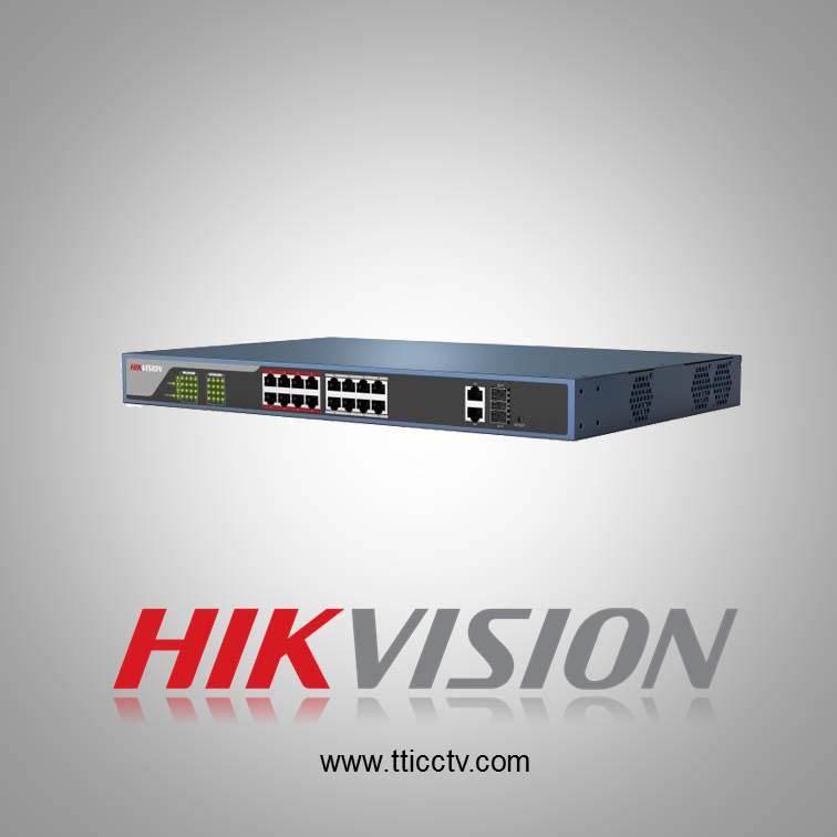 فروش سوئیچ شبکه DS-3E1318P-E هایک ویژن